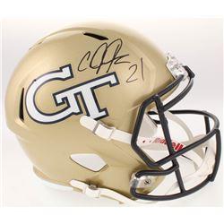 Calvin Johnson Signed Georgia Tech Yellow Jackets Full-Size Speed Helmet (Radtke COA)