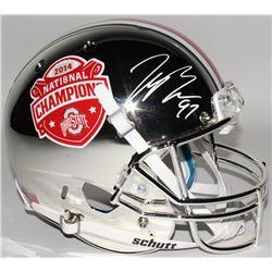Joey Bosa Signed Ohio State Buckeyes 2014 BCS Championship Full-Size Chrome Helmet (Radtke COA)
