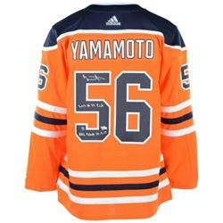 Kailer Yamamoto Signed Edmonton Oilers Limited Edition Jersey with Multiple Inscriptions (Fanatics H