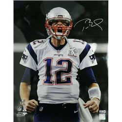 Tom Brady Signed New England Patriots 16x20 Metallic Photo (TriStar Hologram)