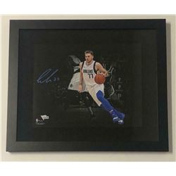 Luka Doncic Signed Dallas Mavericks 11x14 Custom Framed Photo (Fanatics Hologram)