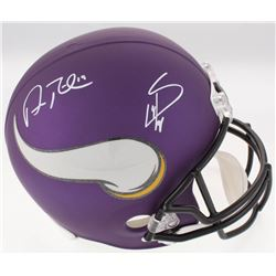 Adam Thielen  Stefon Diggs Signed Minnesota Vikings Full-Size Speed Helmet (JSA COA)
