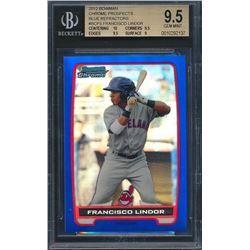 2012 Bowman Chrome Prospects Blue Refractors #BCP3 Francisco Lindor (BGS 9.5)