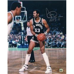 "Artis Gilmore Signed San Antonio Spurs 16x20 Photo Inscribed ""HOF 11"" (Jersey Source Hologram)"