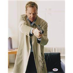 """Kiefer Sutherland Signed """"24"""" 11x14 Photo (PSA COA)"""