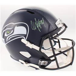 Marshawn Lynch Signed Seattle Seahawks Full-Size Speed Helmet (Radtke COA)