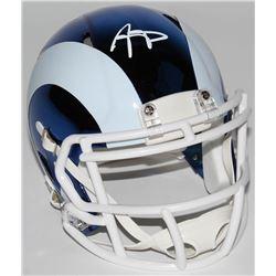 Aaron Donald Signed Los Angeles Rams Chrome Speed Mini-Helmet (JSA COA)