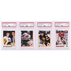 Lot of (4) Hockey Trading Cards with 1990-91 Upper Deck #356 Jaromir Jagr RC (PSA 6), 1990-91 Upper