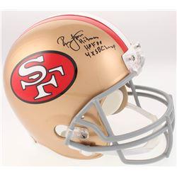 "Ronnie Lott Signed San Francisco 49ers Full-Size Helmet Inscribed ""Hitman"", ""HOF 00""  ""4x SB Champ"""