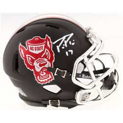 Philip Rivers Signed NC State Wolfpack Custom Matte Black Speed Mini Helmet (Radtke COA)