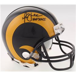 "Marshall Faulk Signed St. Louis Rams Mini Helmet Inscribed ""HOF 20XI"" (Beckett COA)"