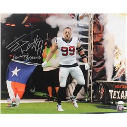 "J. J. Watt Signed Houston Texans 16x20 Photo Inscribed ""Houston Strong"" (JSA COA  Watt Hologram)"