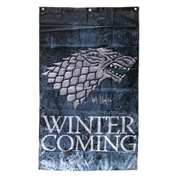 "Kit Harington Signed ""Game Thrones: Winter is Coming"" 30x50 Banner (Radtke COA)"