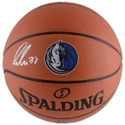 Luka Doncic Signed Mavericks Logo Basketball (Fanatics Hologram)