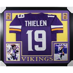 Adam Thielen Signed 35x43 Custom Framed Jersey (Beckett COA)