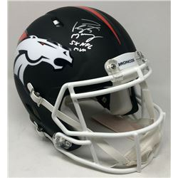 Peyton Manning Signed Denver Broncos Limited Edition Custom Matte Black Full-Size Speed Helmet Inscr