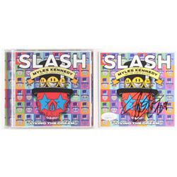 "Slash Signed ""Living the Dream"" CD Album Sleeve Inscribed ""2018"" (JSA COA)"