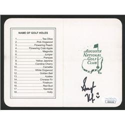 "Smylie Kaufman Signed ""Masters"" Augusta National Golf Club Scorecard (JSA COA)"