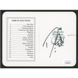 "Danny Willett Signed ""Masters"" Augusta National Golf Club Scorecard (JSA COA)"