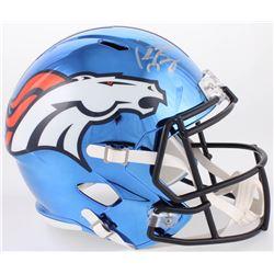Peyton Manning Signed Denver Broncos Full-Size Chrome Speed Helmet (Fanatics Hologram)