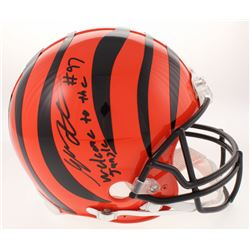 """Geno Atkins Signed Cincinnati Bengals Full-Size Authentic On-Field Helmet Inscribed """"Welcome to the"""