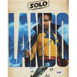 """Donald Glover Signed """" Solo: A Star Wars Story"""" 8x10 Photo (PSA COA)"""