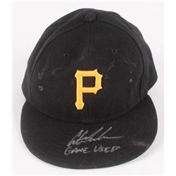 """Austin Meadows Signed Pittsburgh Pirates Game-Used New Era Hat Inscribed """"Game-Used"""" (Radtke COA)"""