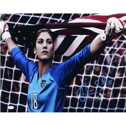 Hope Solo Signed Team USA 16x20 Photo (JSA COA)