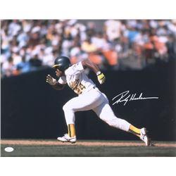 Rickey Henderson Signed Oakland Athletics 16x20 Photo (JSA COA)