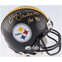 "Jack Lambert Signed Pittsburgh Steelers Mini-Helmet Inscribed ""HOF 90"" (JSA COA)"