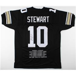 Kordell Stewart Signed Career Highlight Stat Jersey (JSA COA)