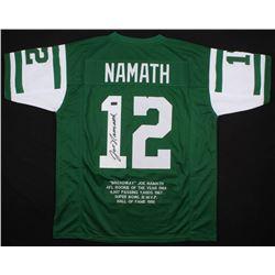 Joe Namath Signed Career Highlight Stat Jersey (Radtke COA)