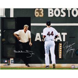 Bobby Orr  Jason Bay Signed Boston Red Sox 16x20 Photo (Great North Road COA  MLB Hologram)