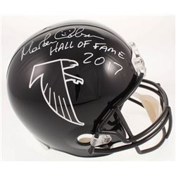 "Morten Andersen Signed Atlanta Falcons Throwback Full-Size Helmet Inscribed ""Hall of Fame 2017"" (Rad"