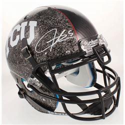 LaDainian Tomlinson Signed TCU Horned Frogs Aqua Tech Full-Size Authentic On-Field Helmet (Radtke CO
