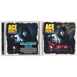 """Ace Frehley  Richie Scarlet Signed """"Trouble Walkin'"""" CD Album Booklet with Inscription  Sealed CD Al"""