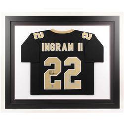 Mark Ingram Jr. Signed New Orleans Saints 35x43 Custom Framed Jersey (Ingram Hologram)