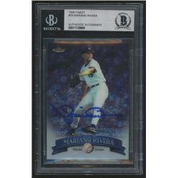 Mariano Rivera Signed 1998 Finest #29 (BGS Encapsulated)