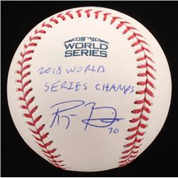 "Ryan Brasier Signed Official 2018 World Series Baseball Inscribed ""2018 World Series Champs"" (JSA CO"