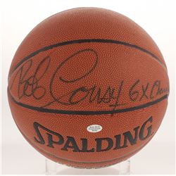 "Bob Cousy Signed NBA Basketball Inscribed ""6X Champ"" (JSA Hologram  Sure Shot Promotions Hologram)"