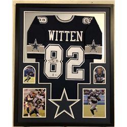 Jason Witten Signed 34x42 Custom Framed Jersey (Beckett COA  Witten Hologram)