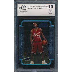 2003-04 Bowman Chrome #123 LeBron James RC (BCCG 10)