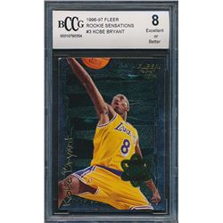 1996-97 Fleer Rookie Sensations #3 Kobe Bryant (BCCG 8)