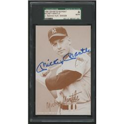 Mickey Mantle Signed 1980 Exhibits HOF #22 Reprint (SGC Encapsulated)