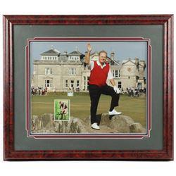 Jack Nicklaus Signed 24x28 Custom Framed Card Display (JSA COA)
