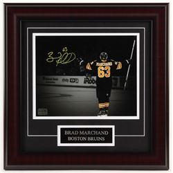 Brad Marchand Signed Boston Bruins 16x16 Custom Framed Photo Display (Marchand COA)