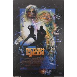 "Jeremy Bulloch Signed ""Return of the Jedi"" 24x36 Movie Poster Inscribed ""Boba Fett"" (Radtke COA)"