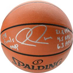 """Paul Pierce Signed Limited Edition Basketball Inscribed """"08 Finals MVP"""", """"21.8 PPG"""", """"4.5 RPG""""  """"6.3"""