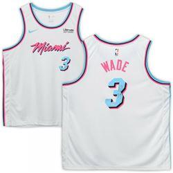 Dwyane Wade Signed Miami Heat White Vice Jersey (Fanatics Hologram)