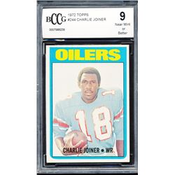 1972 Topps #244 Charlie Joiner RC (BCCG 9)